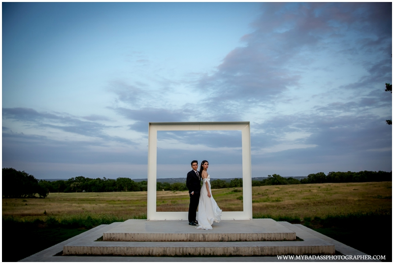 a sunset photo with a gorgeous couple having their Prospect House Wedding