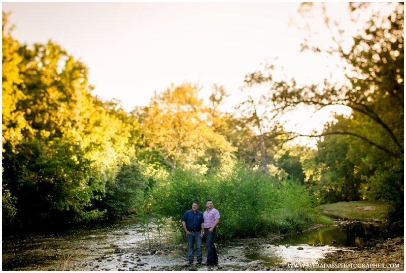 lgbt couple in creek