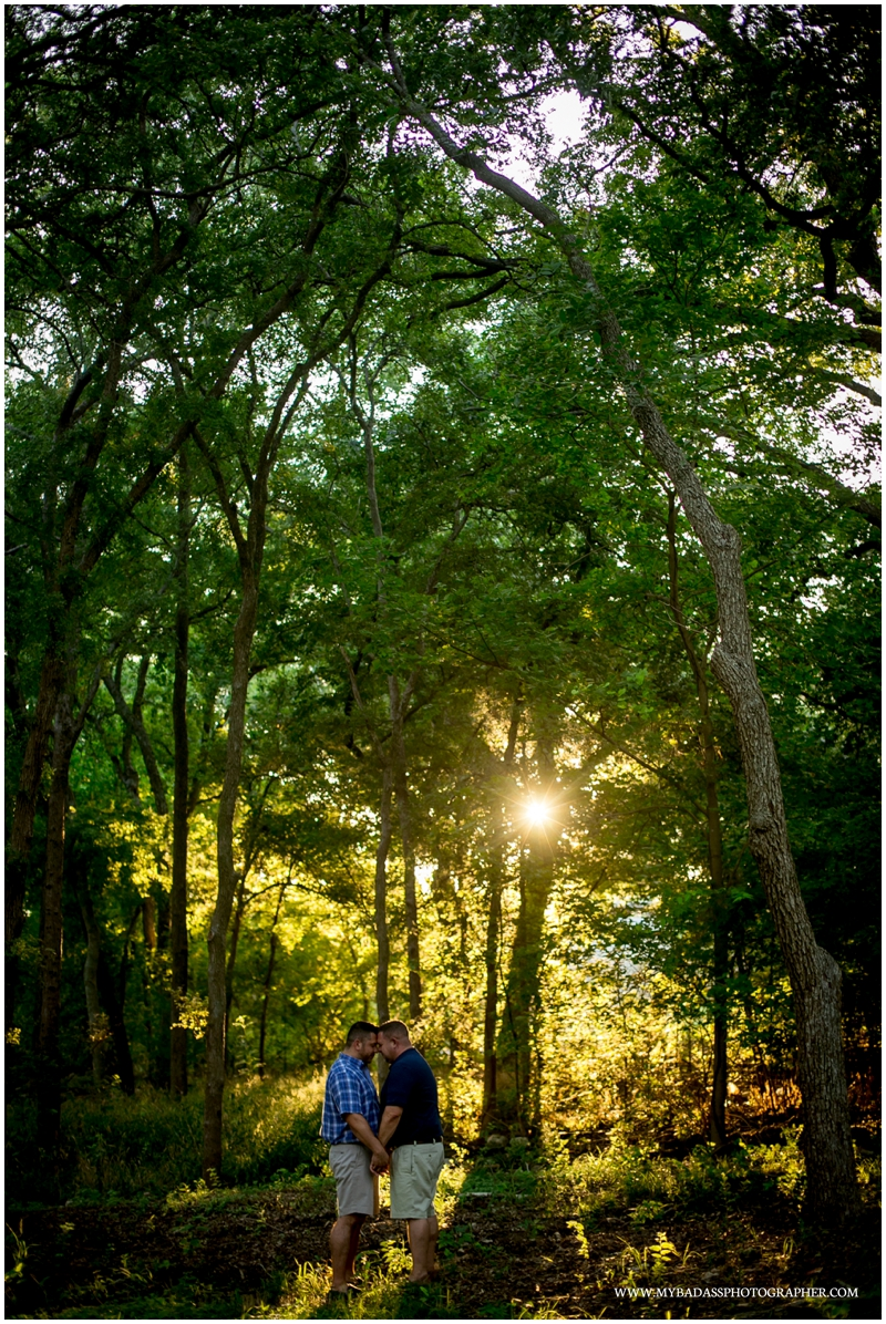 sunset engagement session lgbt couple