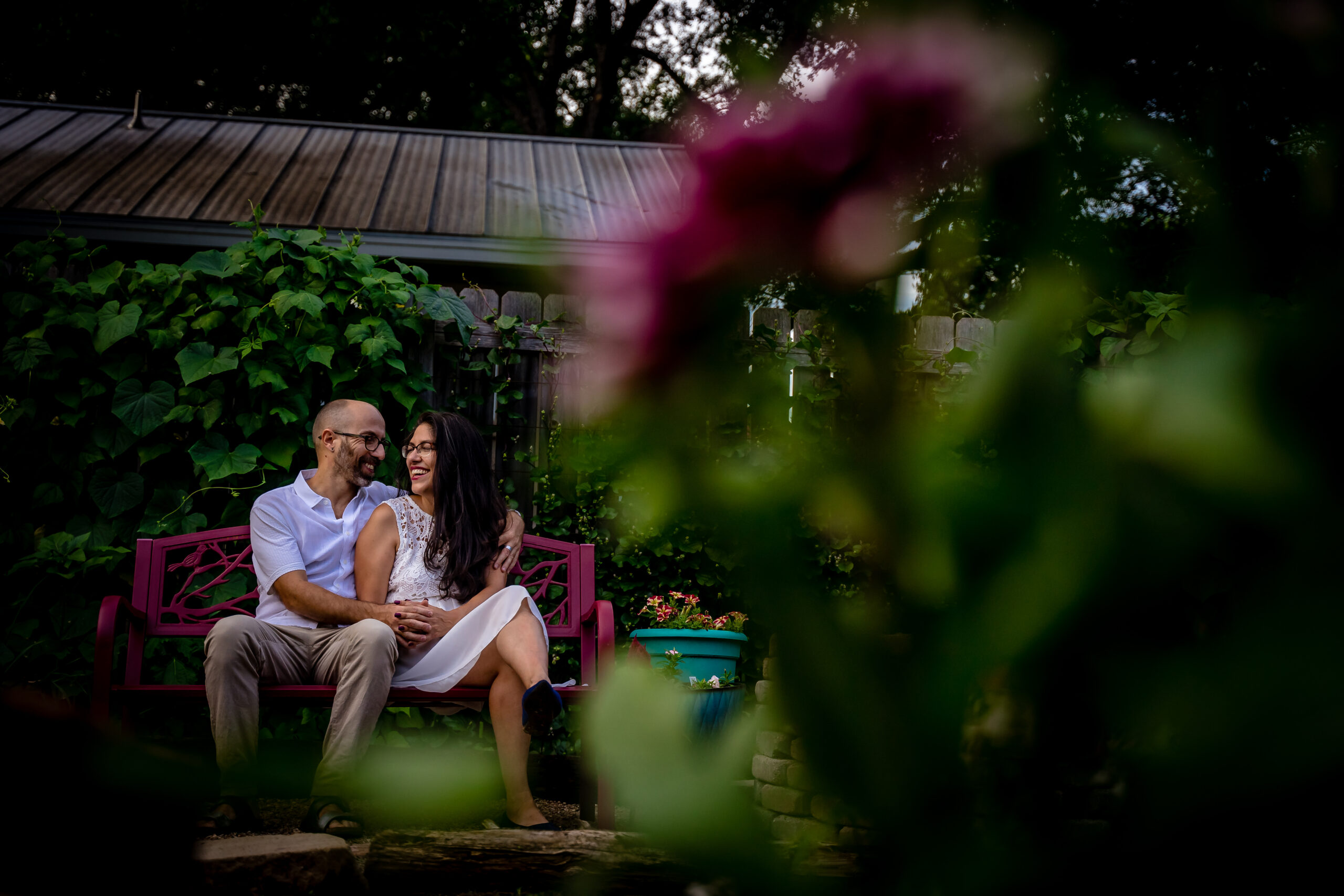 Backyard Engagement Session