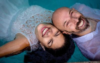 Erika and Davide // Backyard Engagement Session