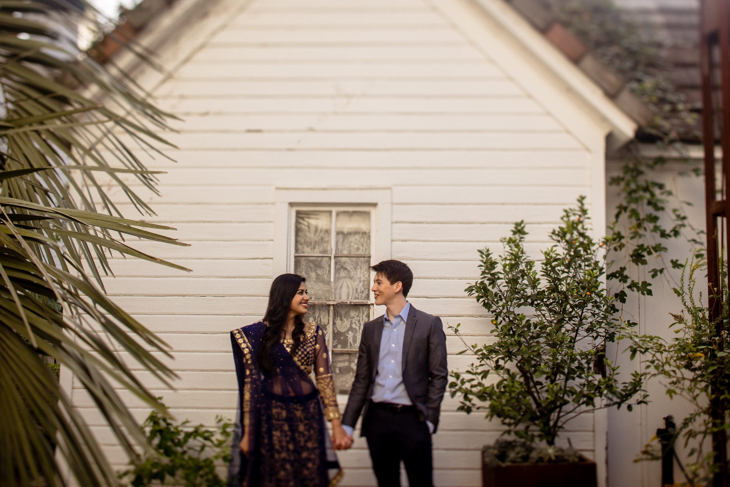 Barr Mansion Engagement Portraits